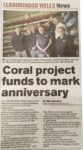 Coral Research Project Makes Local Paper